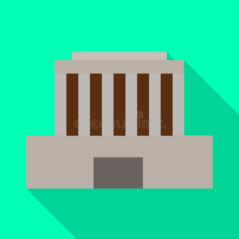 Vector illustration of building and mausoleum logo. Collection of building and vietnamese vector icon for stock. Isolated object of building and mausoleum icon royalty free illustration
