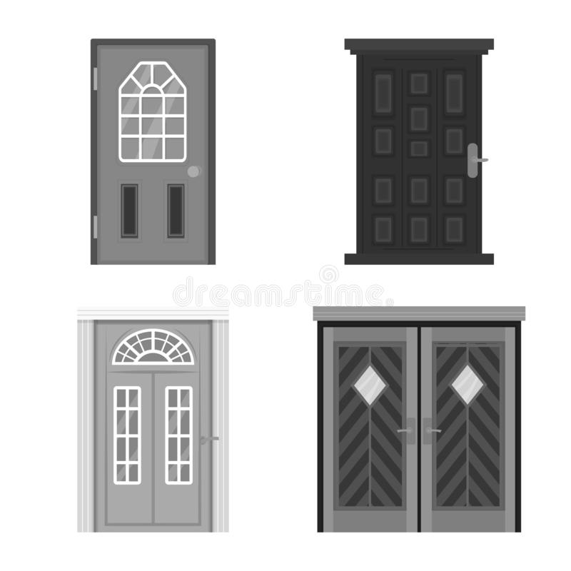Vector illustration of building and office logo. Collection of building and modern vector icon for stock. Isolated object of building and office icon. Set of royalty free illustration