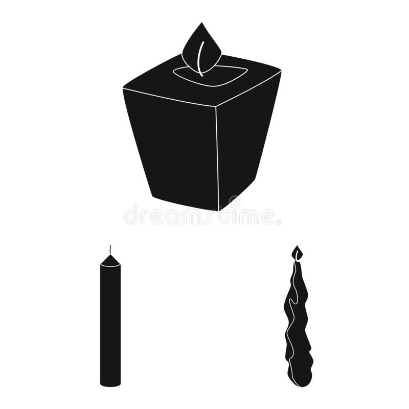 Vector illustration of candlelight and decoration logo. Collection of candlelight and wax vector icon for stock. Isolated object of candlelight and decoration vector illustration