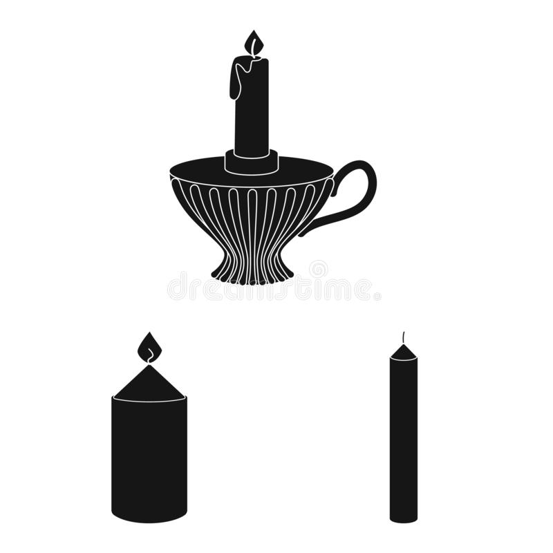 Isolated object of candlelight and decoration icon. Set of candlelight and wax stock vector illustration. Vector design of candlelight and decoration symbol stock illustration