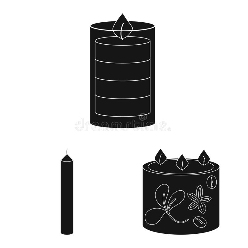 Vector illustration of candlelight and decoration sign. Collection of candlelight and wax stock vector illustration. Isolated object of candlelight and stock illustration