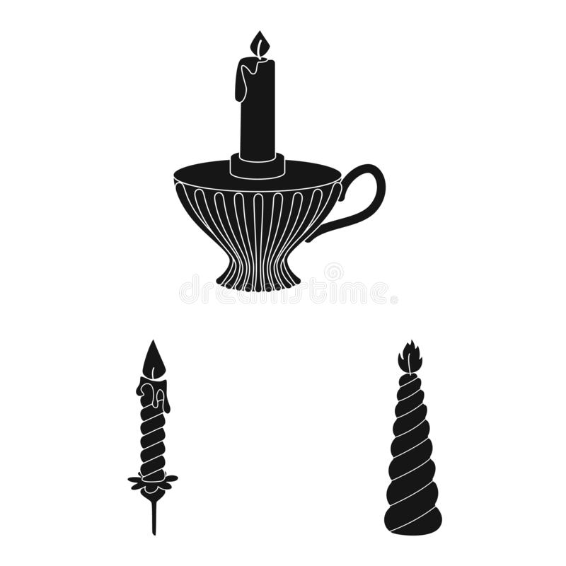 Vector illustration of candlelight and decoration icon. Collection of candlelight and wax stock vector illustration. Isolated object of candlelight and stock illustration