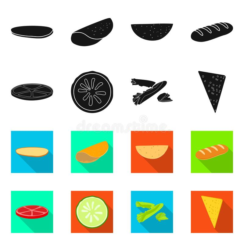 Isolated object of cooking and dinner symbol. Set of cooking and fast vector icon for stock. Vector design of cooking and dinner sign. Collection of cooking and vector illustration