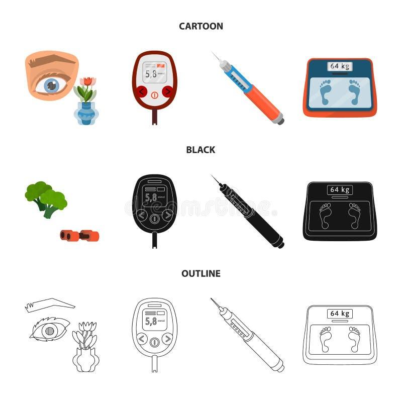 Vector illustration of diet and treatment logo. Collection of diet and medicine stock vector illustration. Isolated object of diet and treatment icon. Set of stock illustration
