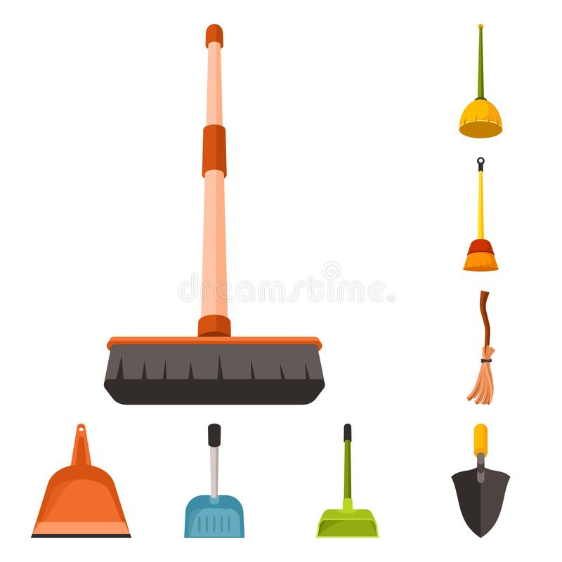 Vector illustration of equipment and housework symbol. Collection of equipment and clean stock symbol for web. Isolated object of equipment and housework sign vector illustration