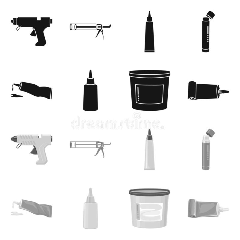 Vector illustration of equipment and stickies icon. Set of equipment and fixing stock vector illustration. Isolated object of equipment and stickies symbol royalty free illustration