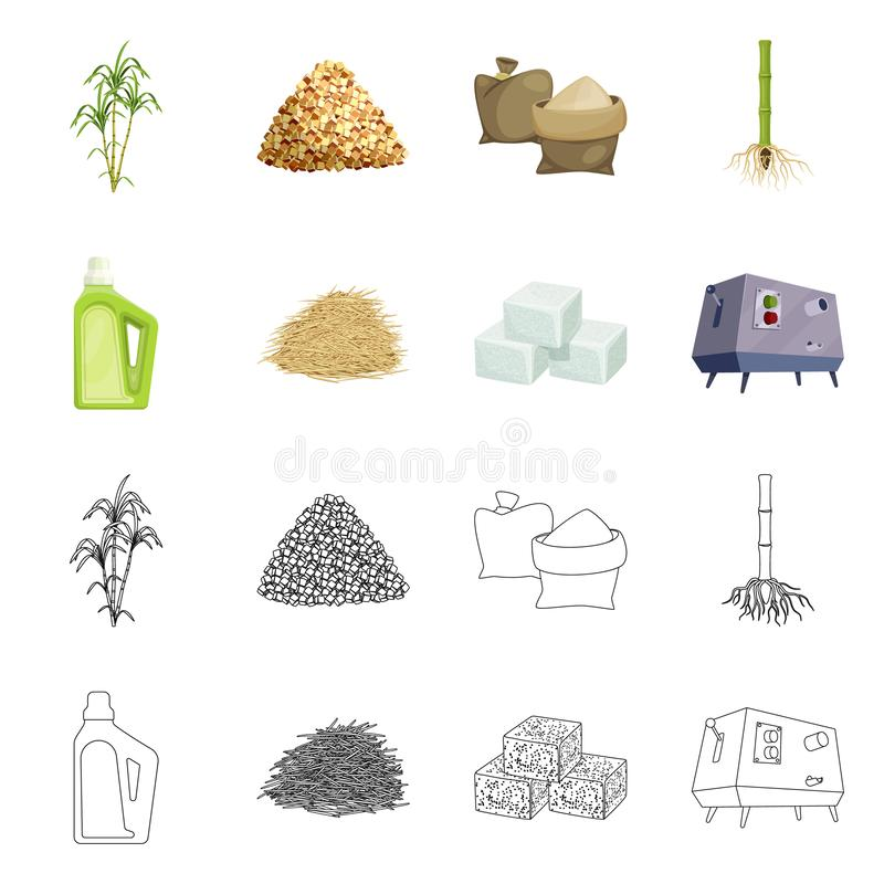 Vector illustration of farm and agriculture  sign. Collection of farm and technology vector icon for stock. Isolated object of farm and agriculture  logo. Set stock illustration