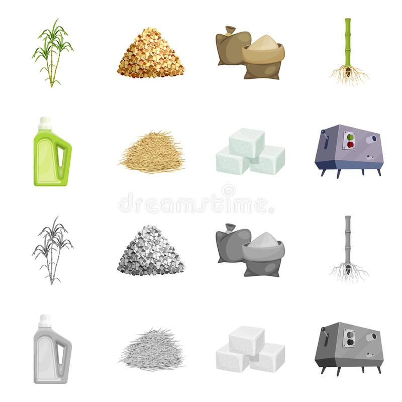 Vector illustration of farm and agriculture  icon. Collection of farm and technology vector icon for stock. Isolated object of farm and agriculture  symbol. Set stock illustration