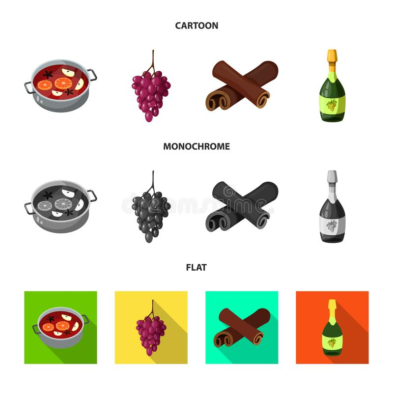 Isolated object of farm and vineyard sign. Collection of farm and product stock vector illustration. vector illustration