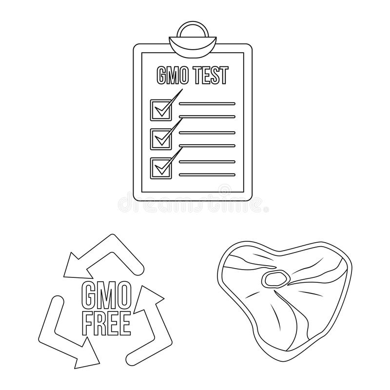 Isolated object of genetic and plant icon. Collection of genetic and biotechnology stock vector illustration. vector illustration