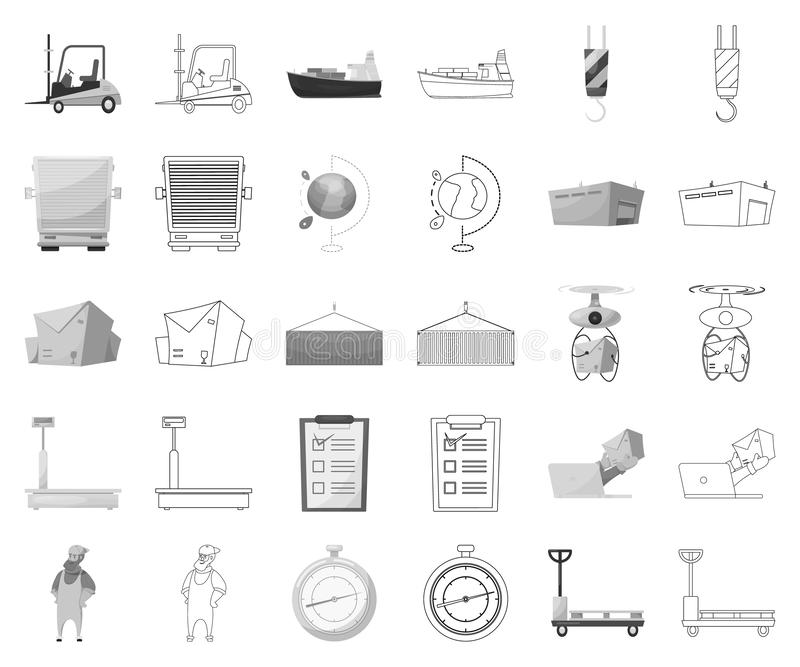 Isolated object of goods and cargo icon. Collection of goods and warehouse stock symbol for web. Vector design of goods and cargo symbol. Set of goods and vector illustration