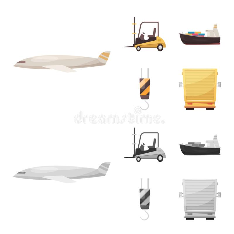 Isolated object of goods and cargo icon. Set of goods and warehouse stock vector illustration. Vector design of goods and cargo symbol. Collection of goods and stock illustration