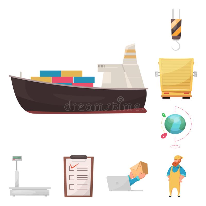 Isolated object of goods and cargo icon. Set of goods and warehouse stock vector illustration. Vector design of goods and cargo symbol. Collection of goods and vector illustration