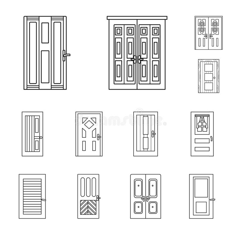Isolated object of home and design logo. Set of home and office vector icon for stock. vector illustration