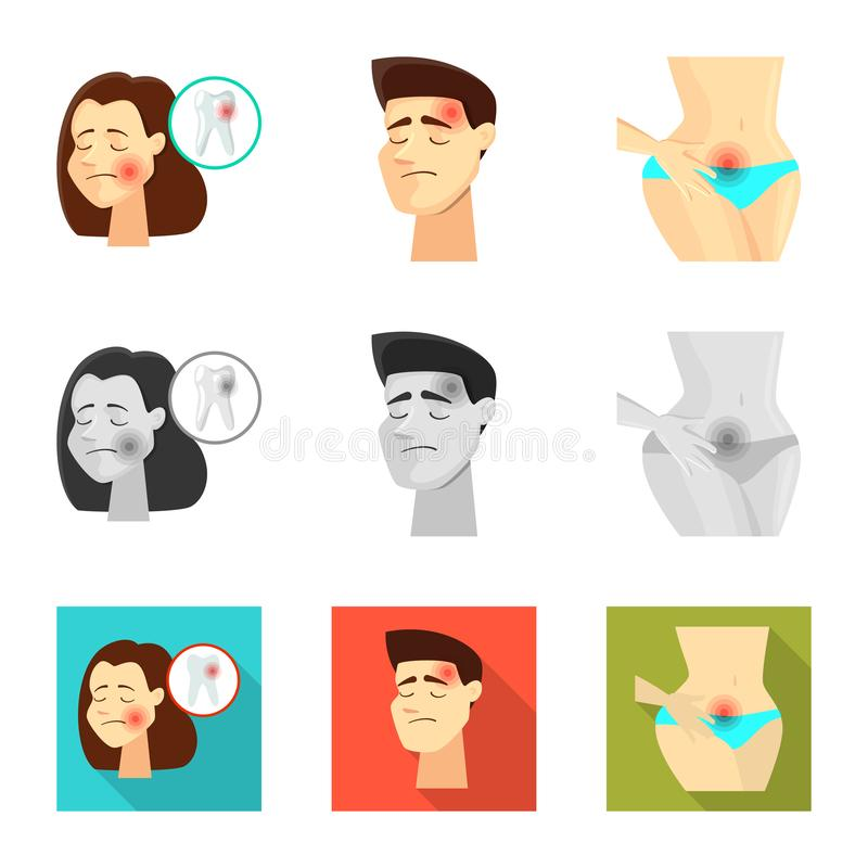 Isolated object of hospital and rendering icon. Set of hospital and help vector icon for stock. Vector design of hospital and rendering symbol. Collection of stock illustration
