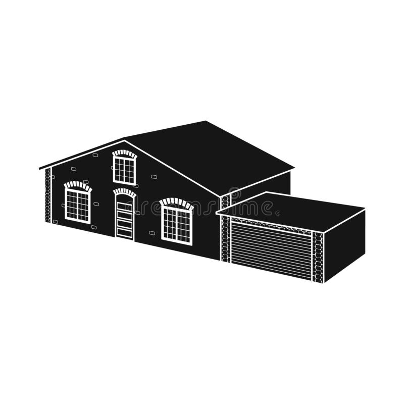 Vector illustration of house and villa logo. Set of house and dwelling stock vector illustration. Isolated object of house and villa icon. Collection of house royalty free illustration