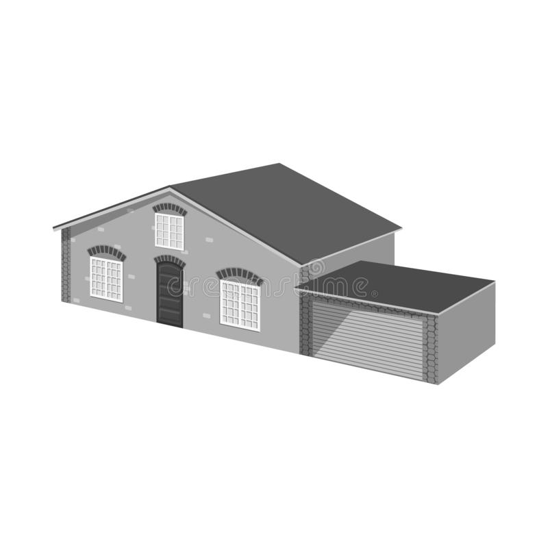 Isolated object of house and villa icon. Set of house and dwelling vector icon for stock. Vector design of house and villa symbol. Collection of house and stock illustration