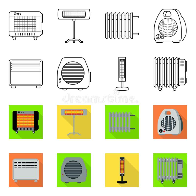 Vector illustration of household and appliances icon. Collection of household and appliance stock symbol for web. Isolated object of household and appliances stock illustration