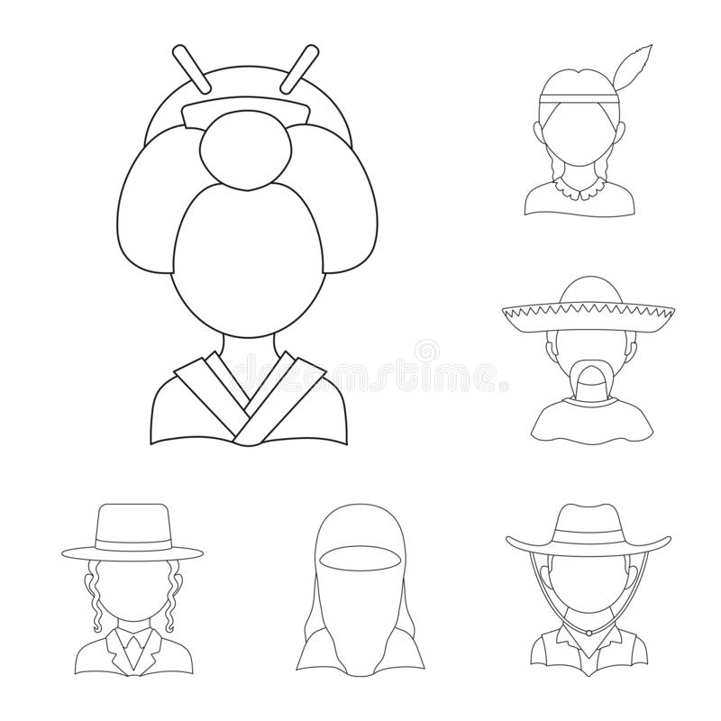 Isolated object of imitator and resident icon. Collection of imitator and culture vector icon for stock. Vector design of imitator and resident symbol. Set of vector illustration