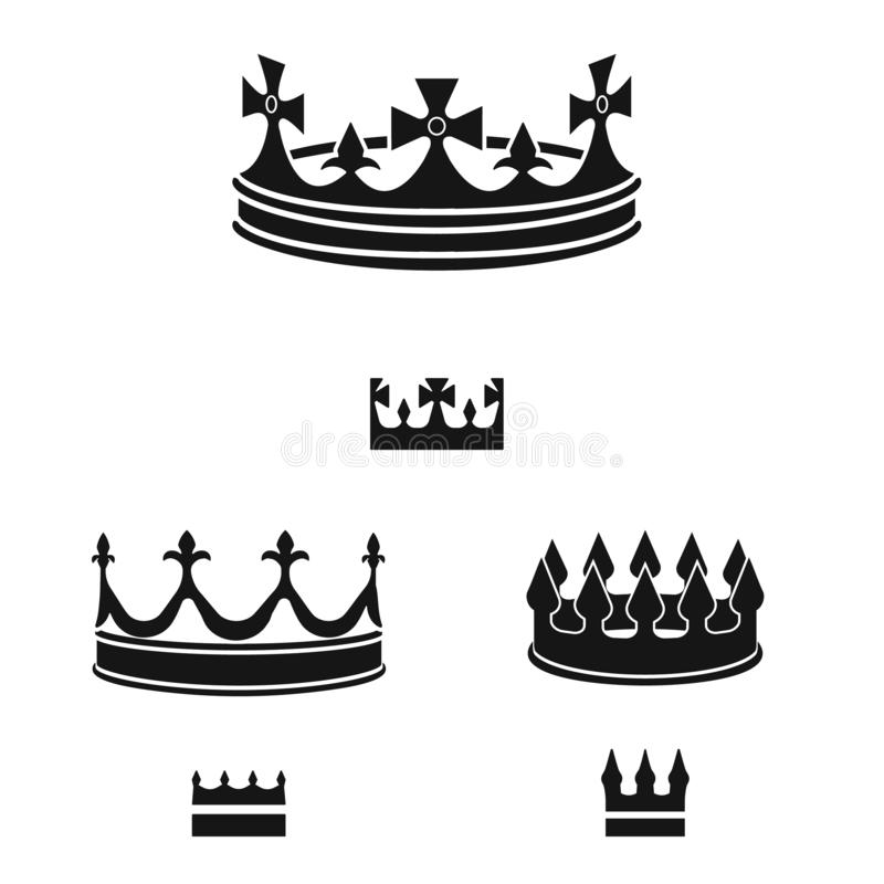 Vector illustration of king and majestic logo. Collection of king and gold stock vector illustration. Isolated object of king and majestic icon. Set of king and vector illustration