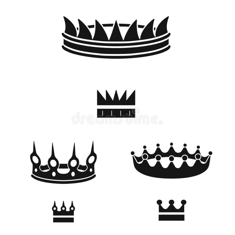 Isolated object of king and majestic logo. Collection of king and gold stock vector illustration. Vector design of king and majestic icon. Set of king and gold royalty free illustration