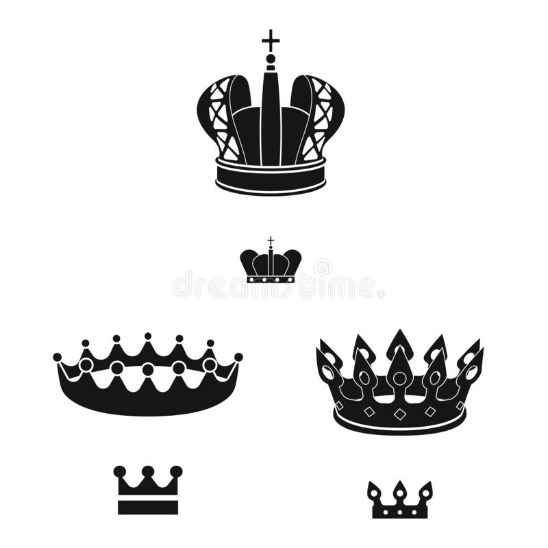 Isolated object of king and majestic sign. Collection of king and gold stock vector illustration. Vector design of king and majestic logo. Set of king and gold stock illustration