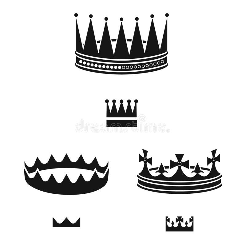 Isolated object of king and majestic symbol. Collection of king and gold stock symbol for web. Vector design of king and majestic sign. Set of king and gold vector illustration