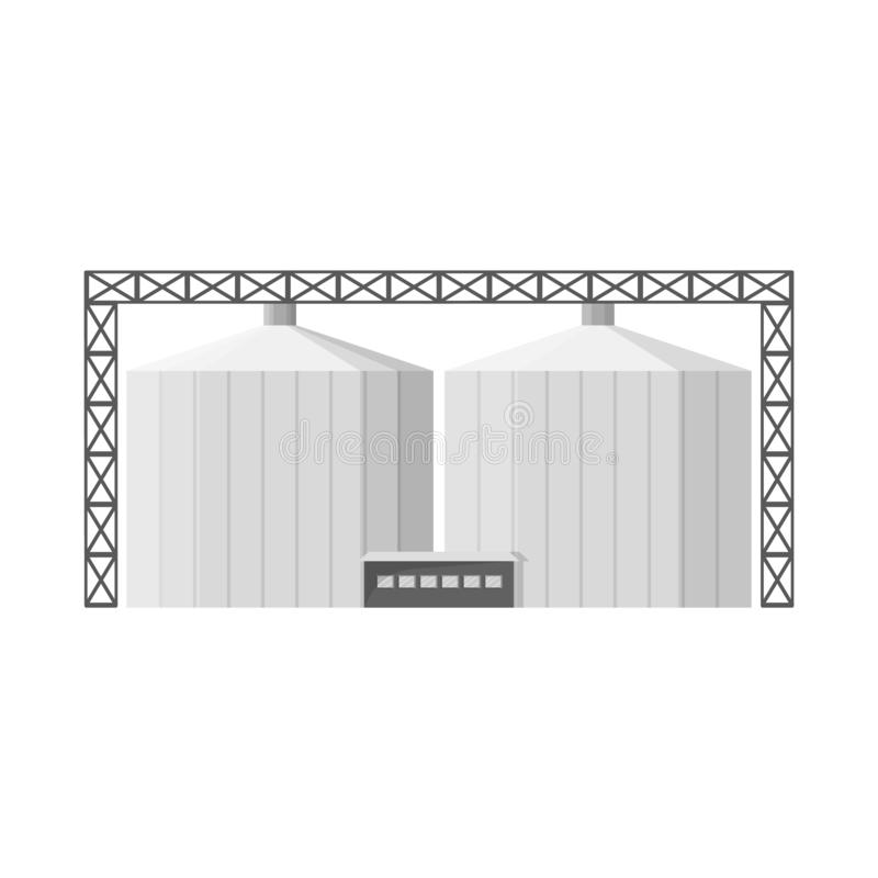 Vector illustration of manufactory and busines icon. Set of manufactory and eco vector icon for stock. Isolated object of manufactory and busines symbol royalty free illustration