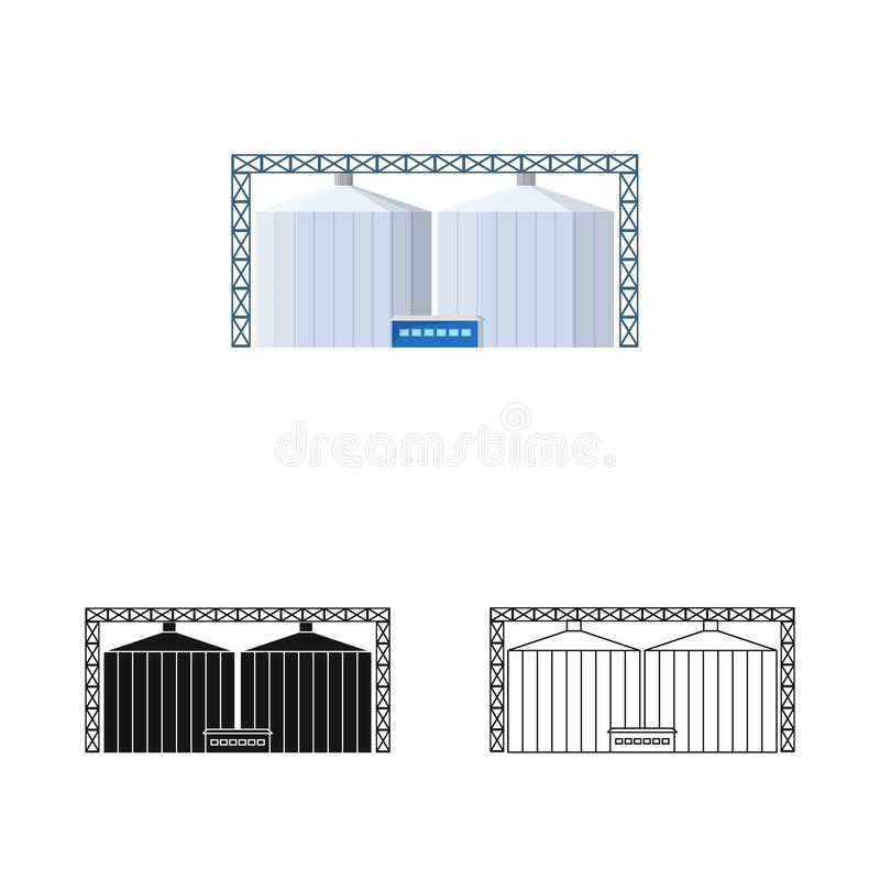 Isolated object of manufactory and busines symbol. Set of manufactory and eco vector icon for stock. Vector design of manufactory and busines sign. Collection royalty free illustration
