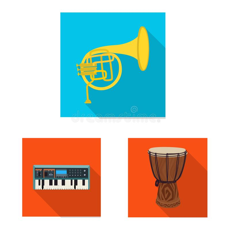 Isolated object of music and tune icon. Set of music and tool stock vector illustration. Vector design of music and tune symbol. Collection of music and tool stock illustration