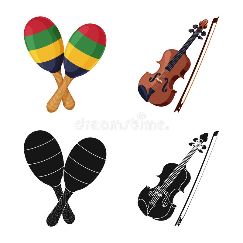 Vector illustration of music and tune sign. Set of music and tool stock symbol for web. Isolated object of music and tune logo. Collection of music and tool vector illustration