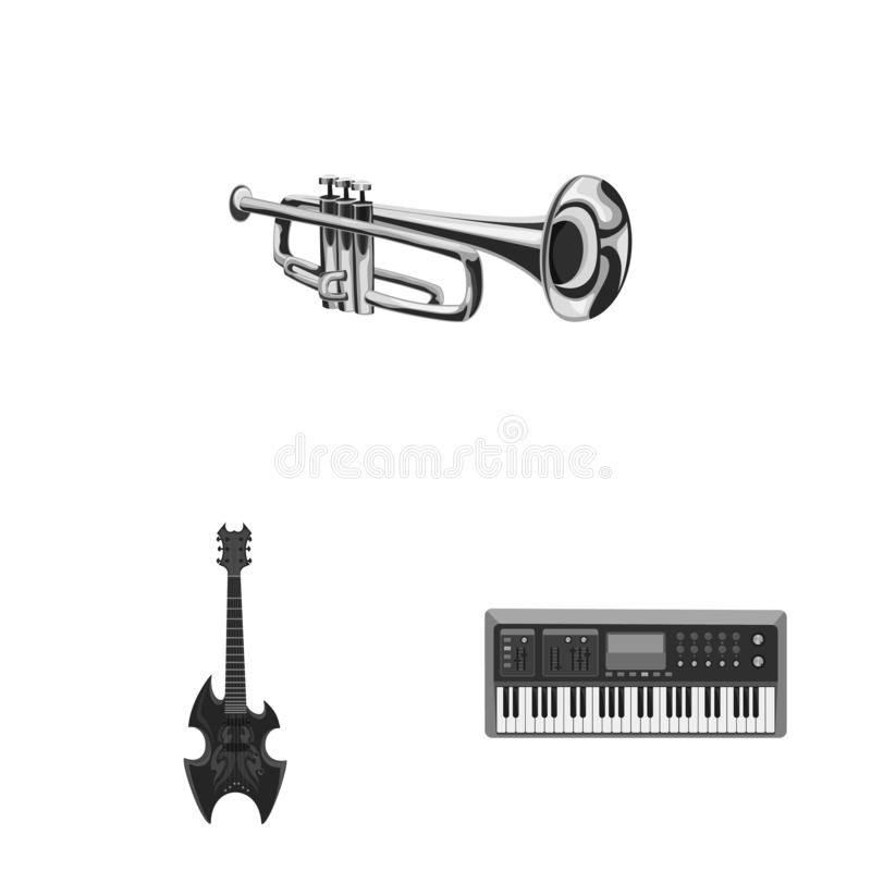 Isolated object of music and tune sign. Set of music and tool stock symbol for web. Vector design of music and tune logo. Collection of music and tool stock stock illustration