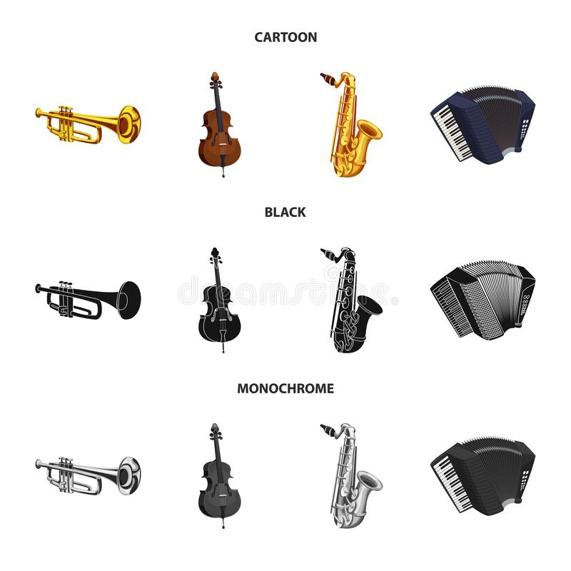 Isolated object of music and tune sign. Set of music and tool vector icon for stock. Vector design of music and tune logo. Collection of music and tool stock vector illustration