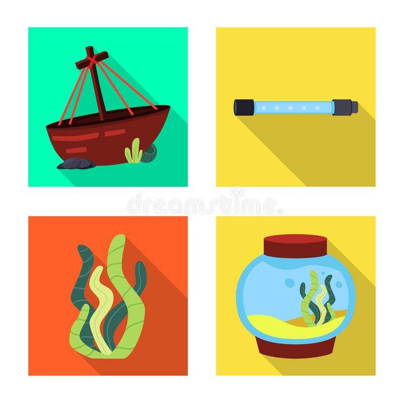 Isolated object of natural and hobby icon. Set of natural and interior vector icon for stock. royalty free illustration
