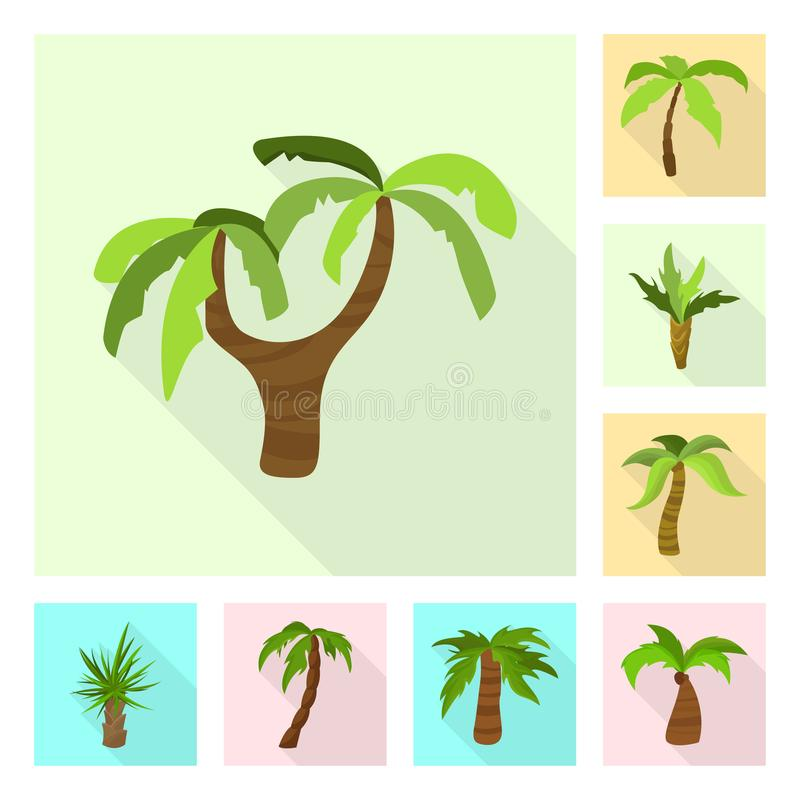 Isolated object of nature and flora sign. Set of nature and ecology vector icon for stock. Vector design of nature and flora logo. Collection of nature and stock illustration