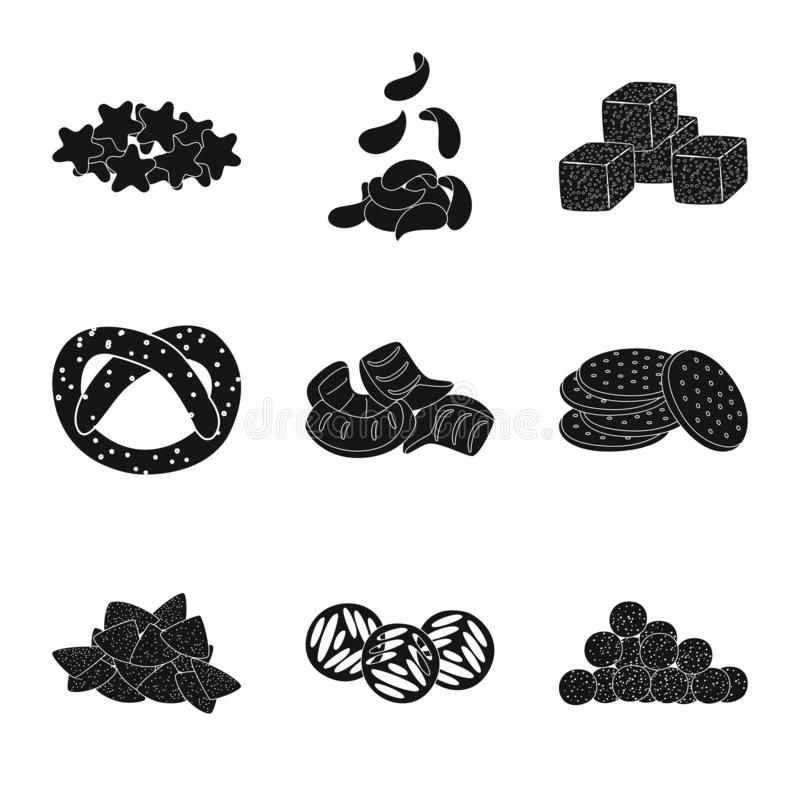 Vector illustration of party and cooking icon. Set of party and crunchy vector icon for stock. Isolated object of party and cooking symbol. Collection of party vector illustration