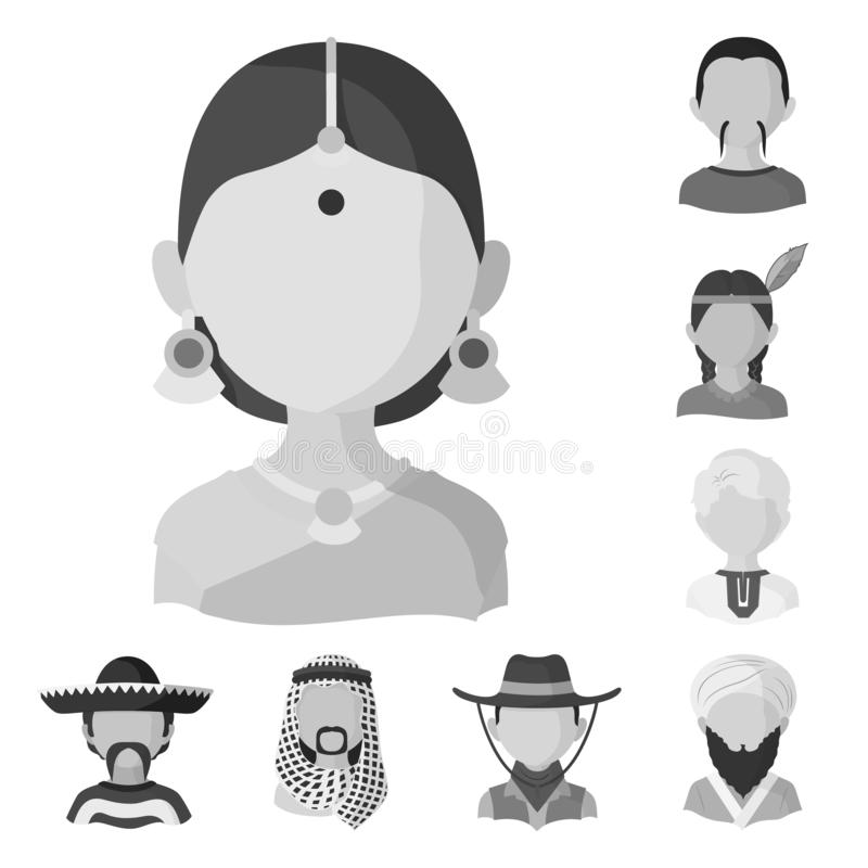 Isolated object of person and culture symbol. Set of person and race stock vector illustration. Vector design of person and culture sign. Collection of person stock illustration