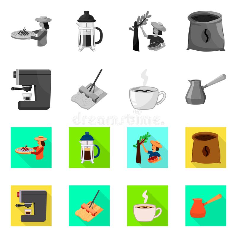 Isolated object of process and farming icon. Collection of process and technology stock symbol for web. Vector design of process and farming symbol. Set of stock illustration