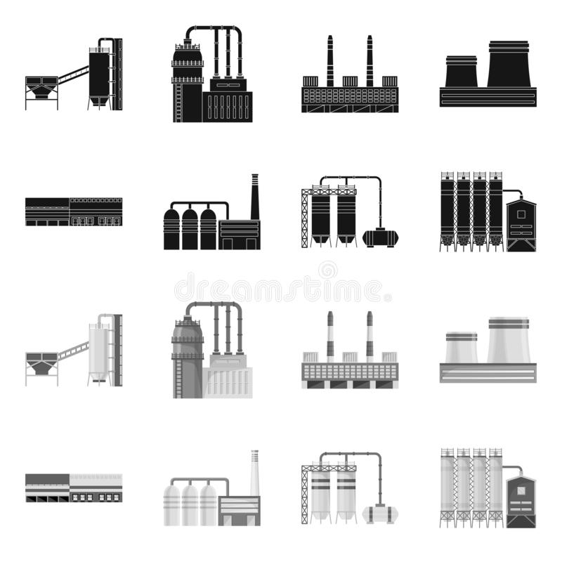 Isolated object of production and structure icon. Collection of production and technology stock vector illustration. stock illustration
