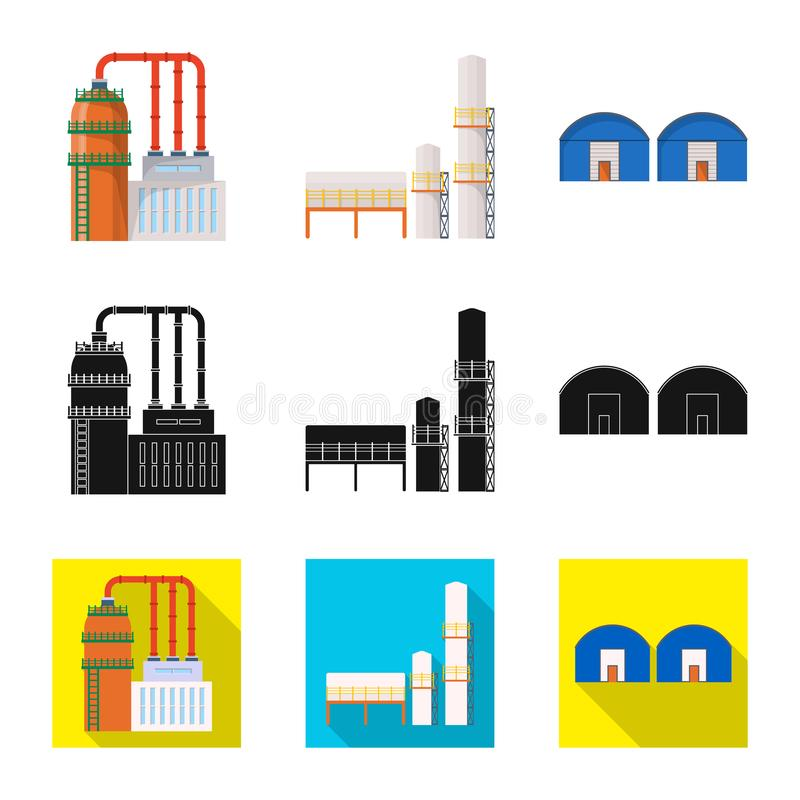 Isolated object of production and structure logo. Set of production and technology stock vector illustration. vector illustration