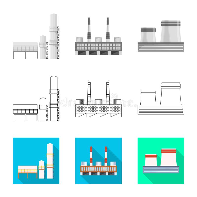Isolated object of production and structure sign. Set of production and technology vector icon for stock. vector illustration