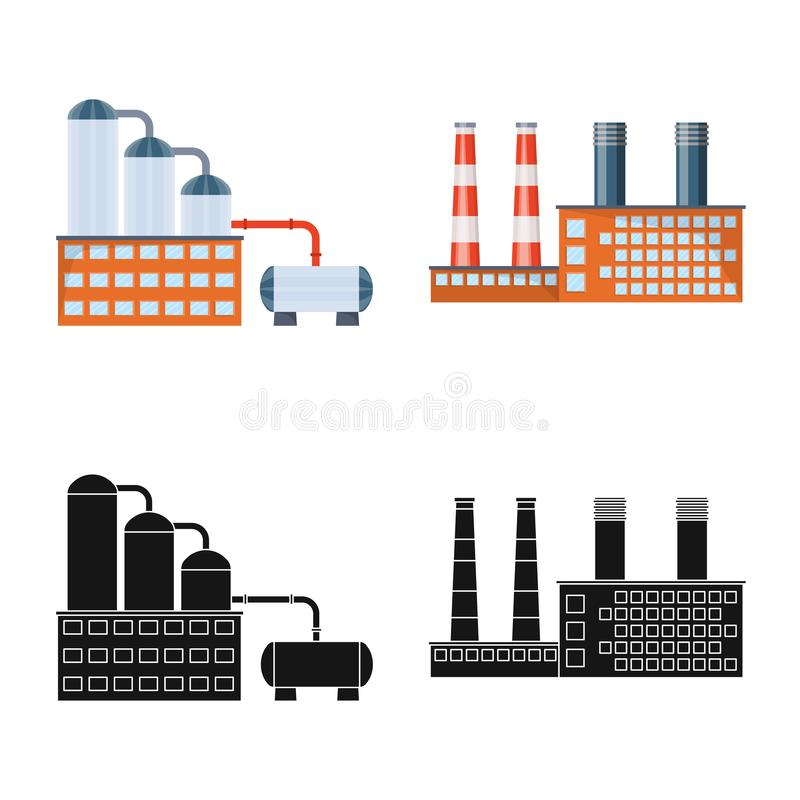 Vector illustration of production and structure icon. Set of production and technology stock vector illustration. stock illustration
