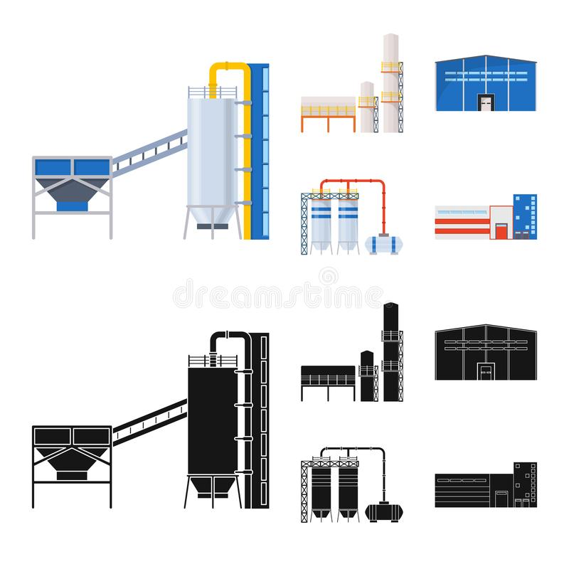 Isolated object of production and structure symbol. Set of production and technology stock vector illustration. stock illustration