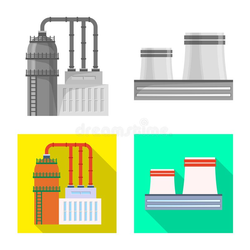 Vector illustration of production and structure icon. Collection of production and technology stock symbol for web. stock illustration