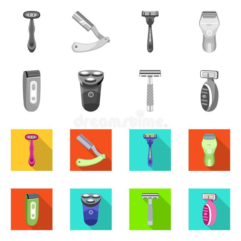 Isolated object of shaving and hygiene icon. Collection of shaving and bathroom stock vector illustration. Vector design of shaving and hygiene symbol. Set of vector illustration