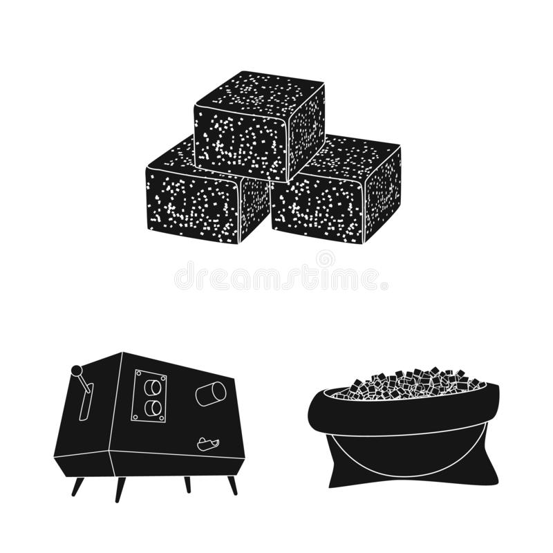Isolated object of sucrose and technology icon. Collection of sucrose and cane stock vector illustration. Vector design of sucrose and technology symbol. Set of royalty free illustration