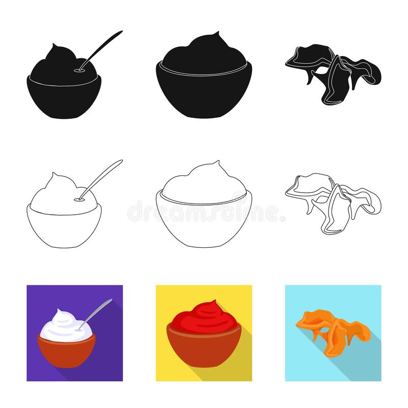 Isolated object of taste and product icon. Collection of taste and cooking stock vector illustration. Vector design of taste and product symbol. Set of taste vector illustration