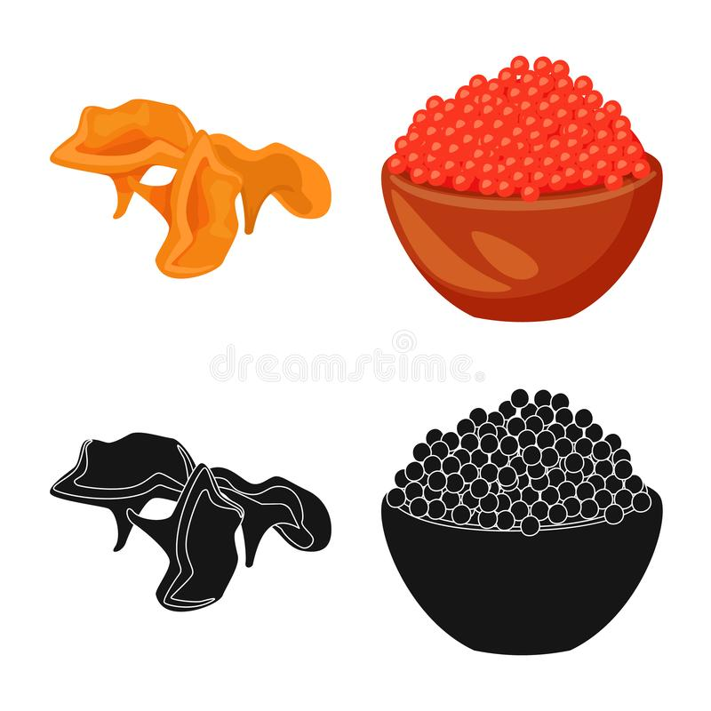 Vector illustration of taste and product icon. Collection of taste and cooking vector icon for stock. Isolated object of taste and product symbol. Set of taste stock illustration