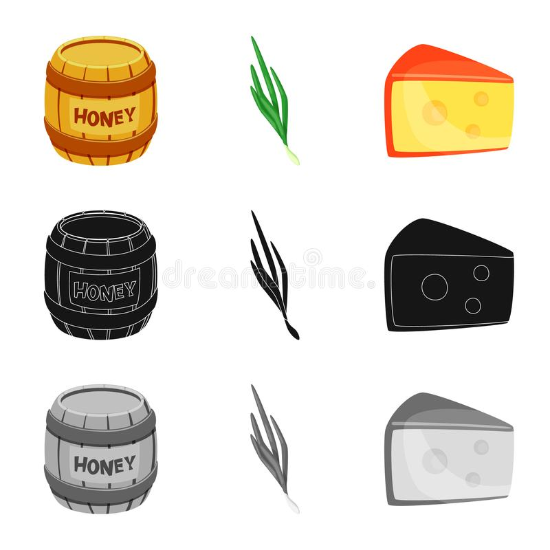 Vector illustration of taste and product icon. Collection of taste and cooking stock symbol for web. Isolated object of taste and product symbol. Set of taste vector illustration