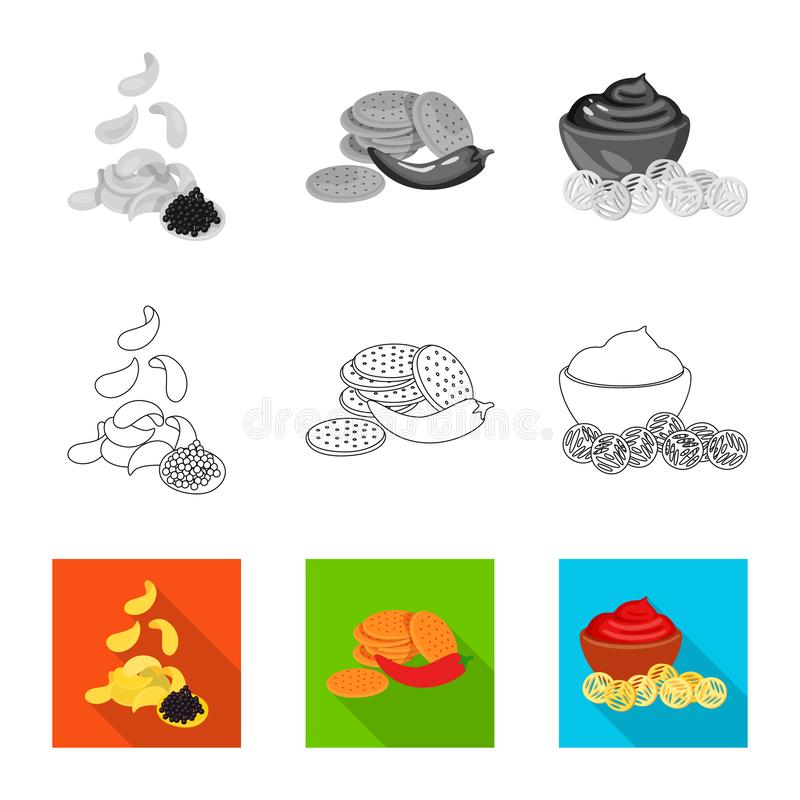 Vector illustration of taste and seasonin logo. Set of taste and organic   vector icon for stock. Isolated object of taste and seasonin icon. Collection of vector illustration